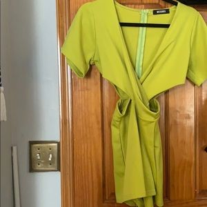 Miss guided Neon Green Romper